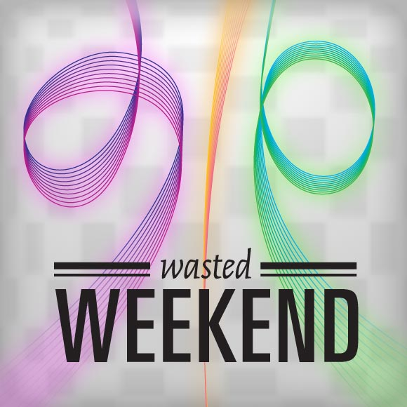 album cover called Wasted Weekend by Glo