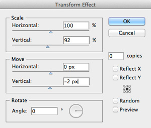 Illustrator transform panel