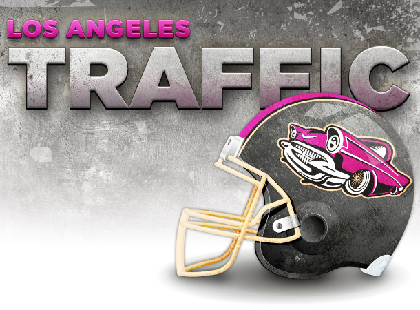 fictitious LA Traffic football helmet