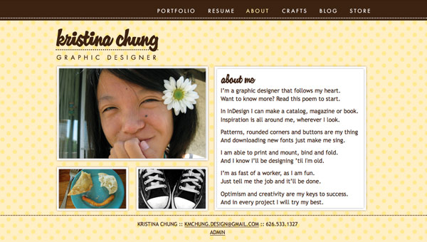 Kristina Chung About page