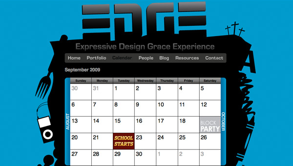 EDGE events calendar