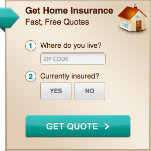 example of Yahoo Homes insurance widget